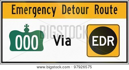 Emergency Detour Route In Canada