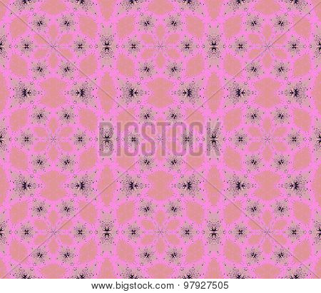 Seamless floral pattern pink gray