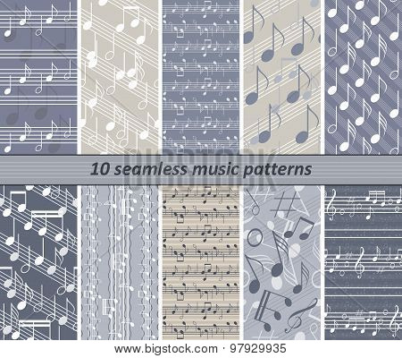 10 Seamless Music Patterns