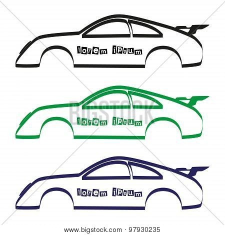 Car Body Silhouette For Your Commercial Use Eps10