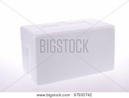 Styrofoam Storage Box On Background