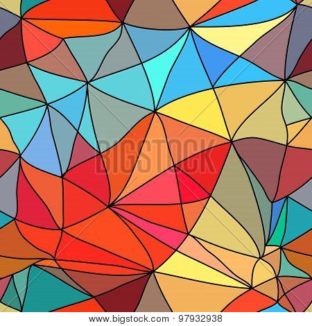 Seamless Background Stained-glass Style.