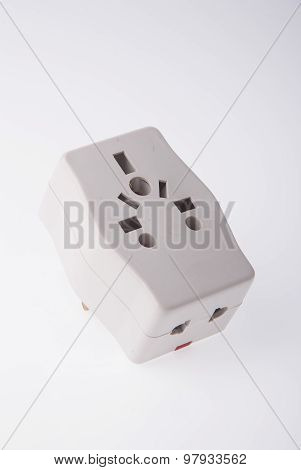 Power Adaptor On Background.