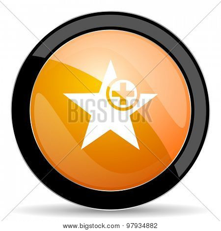 star orange icon add favourite sign