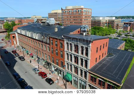 Portland Historic Downtown, Maine, USA