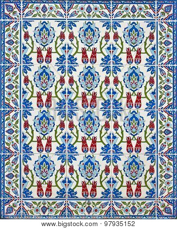 Ottoman ornamental tile. Turkey