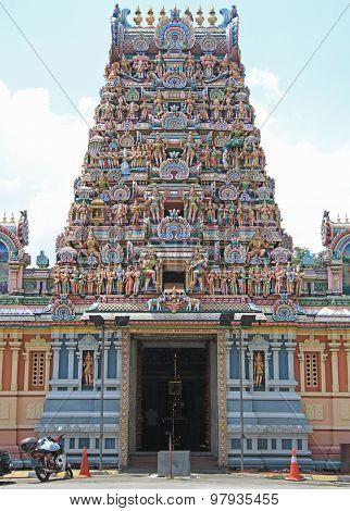 entrance to hindu temple, Kuala Lumpur