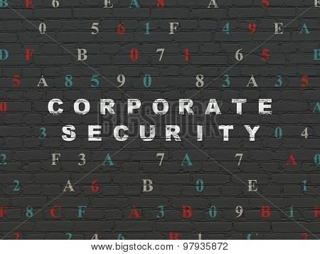 Security concept: Corporate Security on wall background