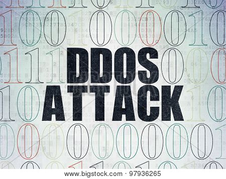 Privacy concept: DDOS Attack on Digital Paper background