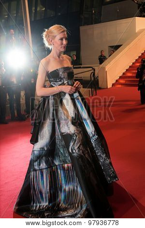Actress Cate Blanchett attend the 'Carol' Premiere during the 68th annual Cannes Film Festival on May 17, 2015 in Cannes, France.