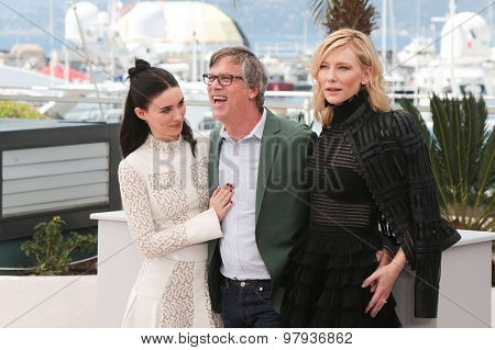 Cate Blanchett, Rooney Mara, Todd Haynes attend the 'Carol' Photocall during the 68th annual Cannes Film Festival on May 17, 2015 in Cannes, France.