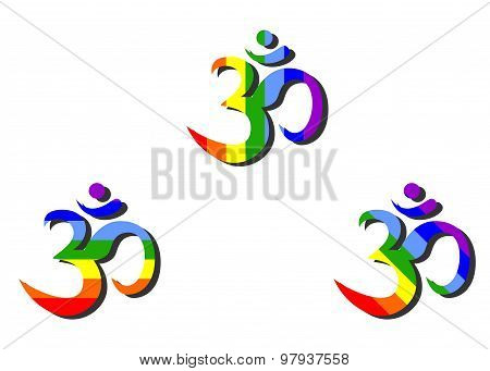 Aum rainbow