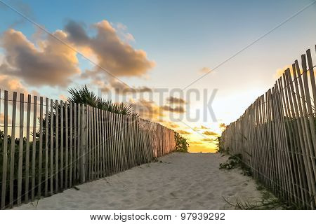 Trail To South Beach, Miami, Florida