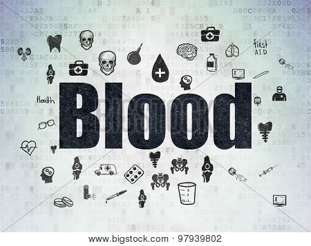 Healthcare concept: Blood on Digital Paper background