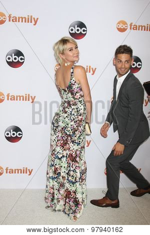LOS ANGELES - AUG 4:  Chelsea Kane, Jean-Luc Bilodeau at the ABC TCA Summer Press Tour 2015 Party at the Beverly Hilton Hotel on August 4, 2015 in Beverly Hills, CA