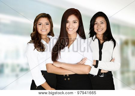 Businesswomen at the office ready to work
