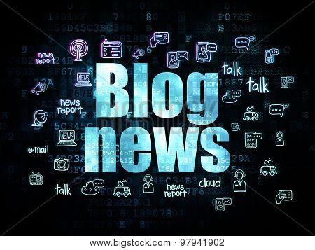 News concept: Blog News on Digital background