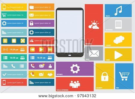 Modern Colorful User Interface Vector