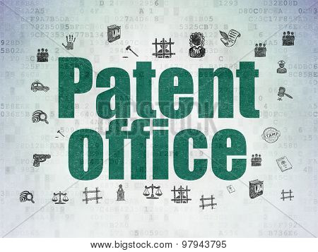 Law concept: Patent Office on Digital Paper background