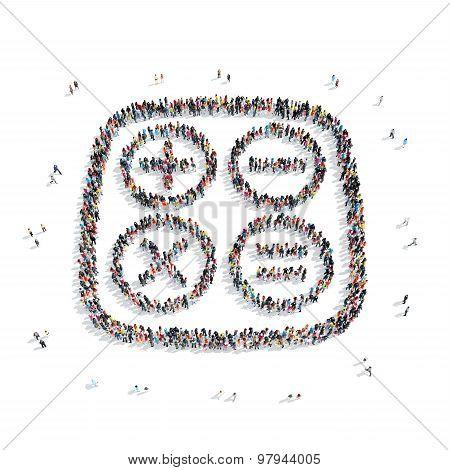 group  people  shape  mathematical symbols