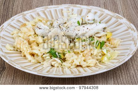 Risotto With Calamari