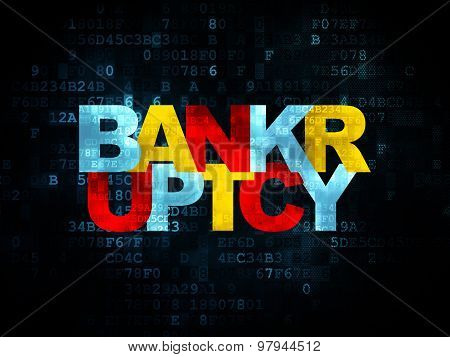 Law concept: Bankruptcy on Digital background