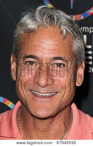 LOS ANGELES - JUL 31:  Greg Louganis at the Special Olympics Inaugural Dance Challenge at the Wallis Annenberg Center For The Performing Arts on July 31, 2015 in Beverly Hills, CA