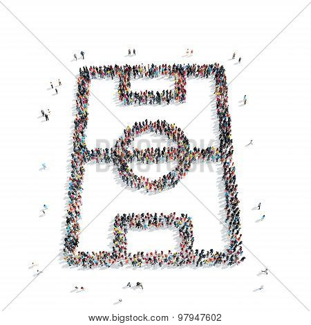 group  people  shape  sports field