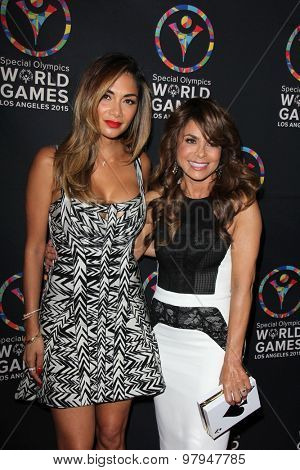 LOS ANGELES - JUL 31:  Nicole Scherzinger, Paula Abdul at the Special Olympics Inaugural Dance Challenge at the Wallis Annenberg Center For The Performing Arts on July 31, 2015 in Beverly Hills, CA