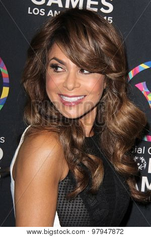 LOS ANGELES - JUL 31:  Paula Abdul at the Special Olympics Inaugural Dance Challenge at the Wallis Annenberg Center For The Performing Arts on July 31, 2015 in Beverly Hills, CA