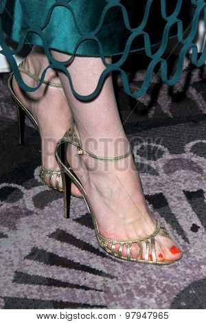LOS ANGELES - AUG 1:  Michelle Dockery (shoe detail) at the