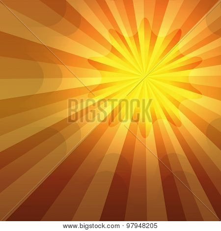 Hot Summer Sun Shining Gradient Background