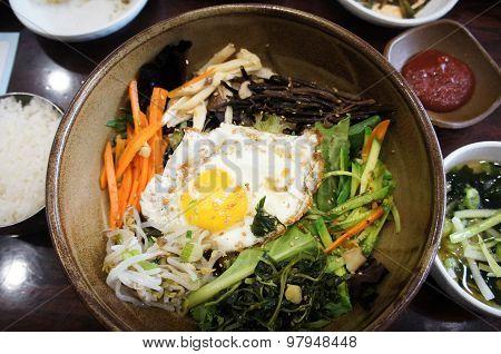 Korean bi bim bap dish