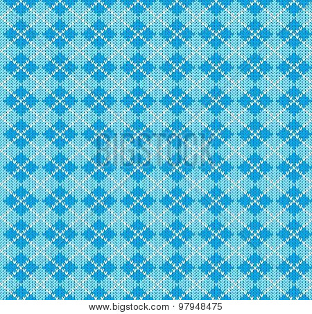 vector knitting seamless background: geometric argyle pattern