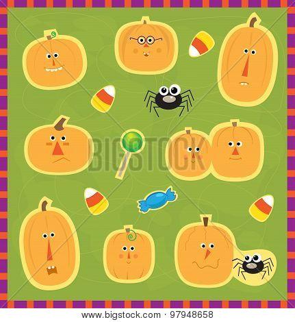 Pumpkin Faces Stickers