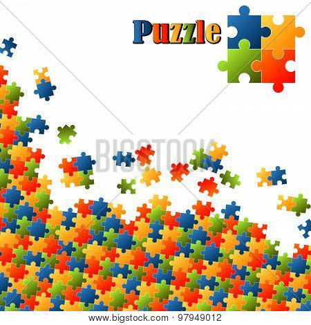 Colored Puzzle Background