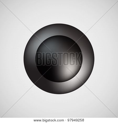 Black Bubble Icon Badge With Light Background