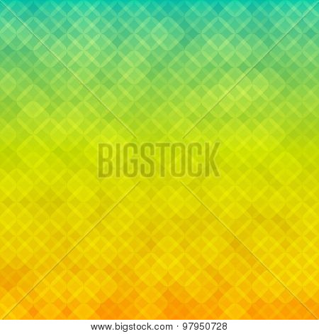 Squares Mosaic Effect Glow Yellow Green Gradient Background