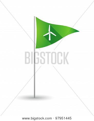 Golf Flag With A Wind Generator