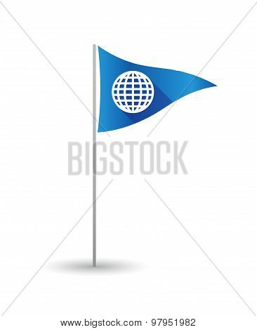 Golf Flag With A World Globe