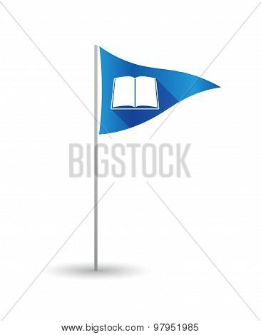 Golf Flag With A Book