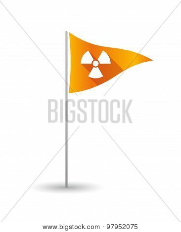 Golf Flag With A Radio Activity Sign