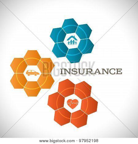 Techno Flower Concept Insurance Infographics Template