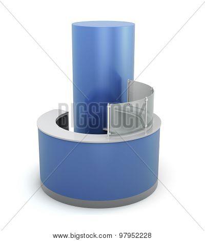 Blue Front Desk