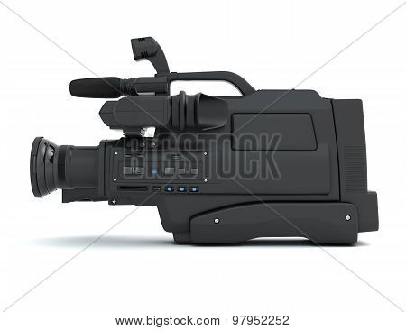 Professional Video Camera Side View