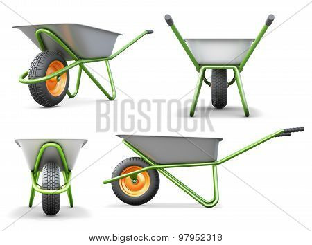 Wheelbarrow From Different Angles