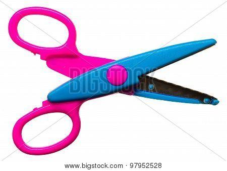 Colored Zigzag Scissors