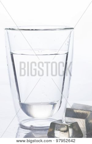 Glass Of Drinking Water And Ice