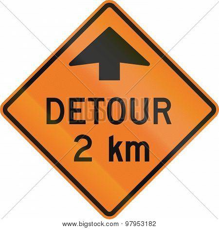 Detour 2 Km In Canada