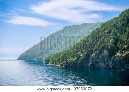 Baikal Lake Coast; Near Listvyanka